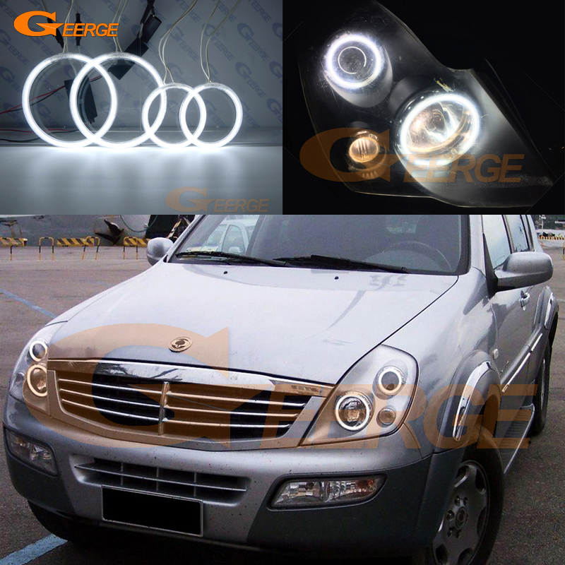 Para Ssangyong Rexton 2003 2004 2005 Excelentes ojos de ángel Iluminación ultra brillante CCFL Angel Eyes kit Halo Ring