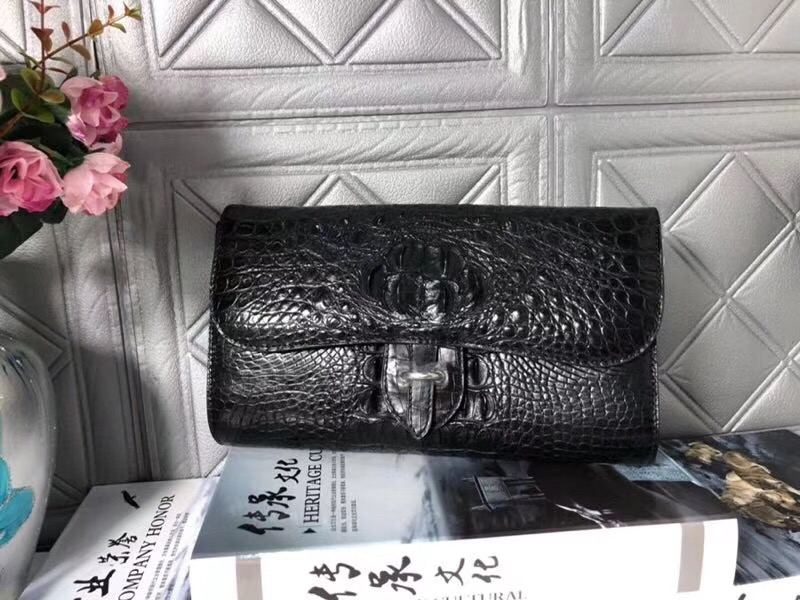 купить Thin Designer Genuine Crocodile Leather Hot Pink Female Evening Purse Real Alligator Skin Lady Shoulder Bag Woman Sling Bag по цене 22643.05 рублей