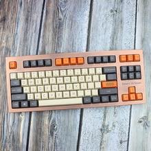Orange Gray 87 Pbt Keycap OME Profile Keycaps Blank Keyset Thick 61 104 Standard For Mechanical Keyboard Cherry Mx