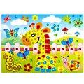 2 unids/lote 16.5*21.5 cm foto diamante etiqueta engomada diy creativo mano pasta de rompecabezas de papel juguetes educativos para los niños