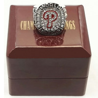 Factory Price Drop Shipping 2008 Philadelphia Phillies Baseball MLB World Series Championship Champions Ring With Wooden