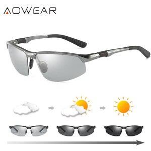 Image 1 - AOWEAR HD الرجال اللونية الاستقطاب النظارات الشمسية الرجال الاستقطاب الحرباء نظارات ليوم ليلة القيادة مضادة للوهج نظارات Gafas