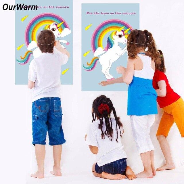 Ourwarm 2 Piezas Unicornio Partido Divertido Juegos Para Ninos Pin
