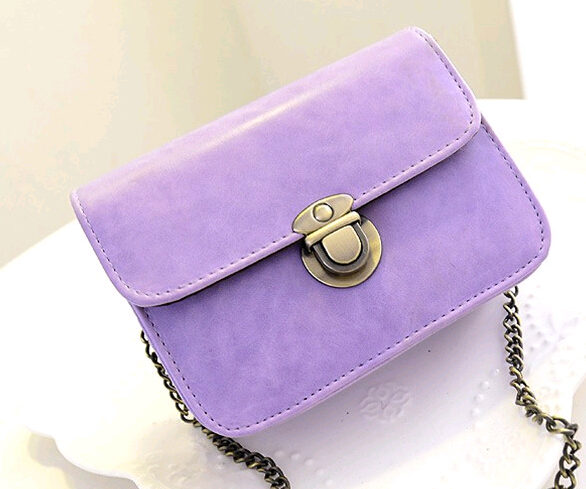 New Fashion Women Messenger bags Chain Shoulder Bag PU Leather Candy Color Crossbody Mini BagNew Fashion Women Messenger bags Chain Shoulder Bag PU Leather Candy Color Crossbody Mini Bag