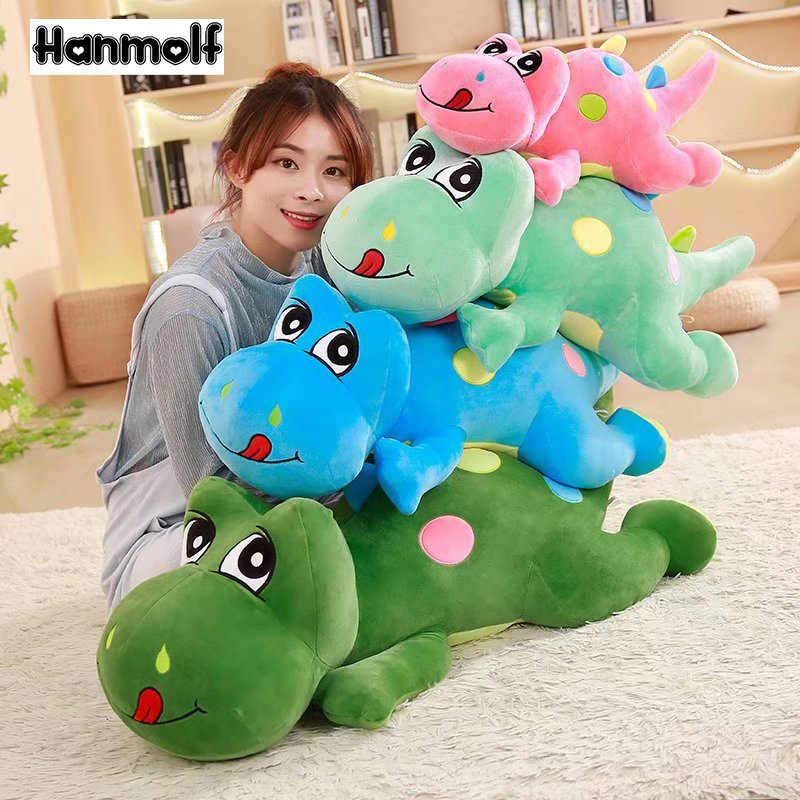 חמוד Tanystropheus שוכב בפלאש צעצוע ממולא דינוזאור בובת דינוזאורים דינו ירוק/ורוד/כחול/צבא ירוק בני חג המולד מתנה 60/90/110cm
