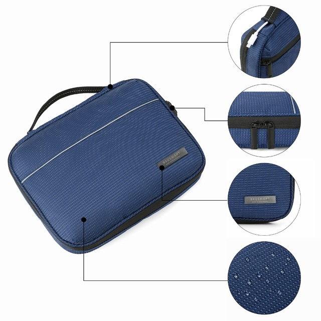 Bagsmart Waterproof Electronic Accessories Travel Organizer Bag Men Cable Travel Bag For Power Bank SD Card Fit in iPad Mini