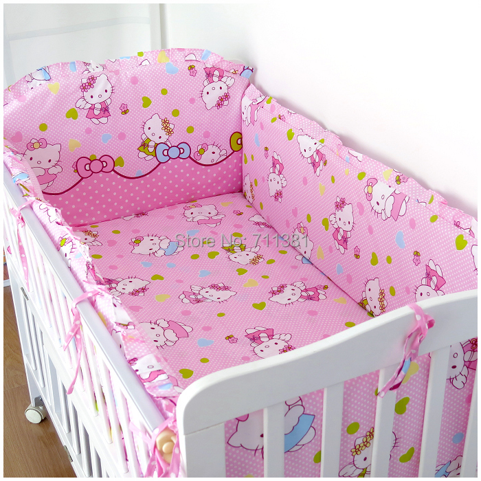 bedclothes for baby cribs and cots 4 bumpers 1 sheet for new born bed very cute