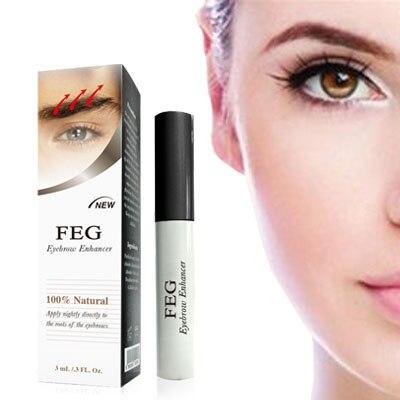 FEG Sopracciglio Crescita Siero per impermeabile crescere 7 giorni erbe Naturali sopracciglia crescita liquido 100% marchio originale trucco maquiagem