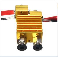 DuoWeiSi 3D Printer Parts Dual Head Extruder V6 Hot End Extruder With Wire For 3D Printer