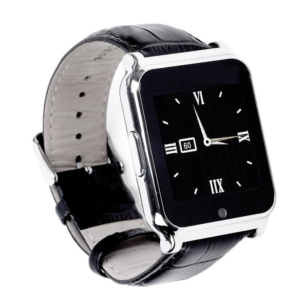 Leegoal smartwatch bluetooth 4.0 smart watch marca de lujo de negocios de cuero