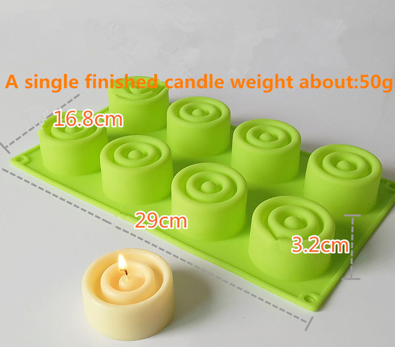 Candle mould DIY handmade candles handmade soap baked silica gel mold food grade high temperature resistant mold color random in Candle Molds from Home Garden