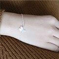 Pulsera de moda Femenina Romántica Perla Charm Bracelet Chain Link 925 Diseño Elegante Damas Ornamento de Plata Pulsera