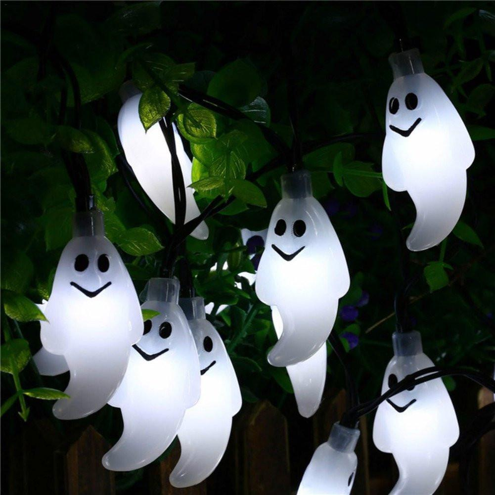 Little Ghost String Light 20 LED Solar Outdoor Led Lights Decoration For Halloween Theme Party Garden Courtyard Holiday Lights
