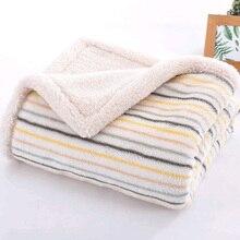 High Quality Baby Blankets Newborn Thicken Cotton Fleece Blanket Manta Bebe Infant Swaddle Wrap Warm Soft Baby Bedding Blankets недорого