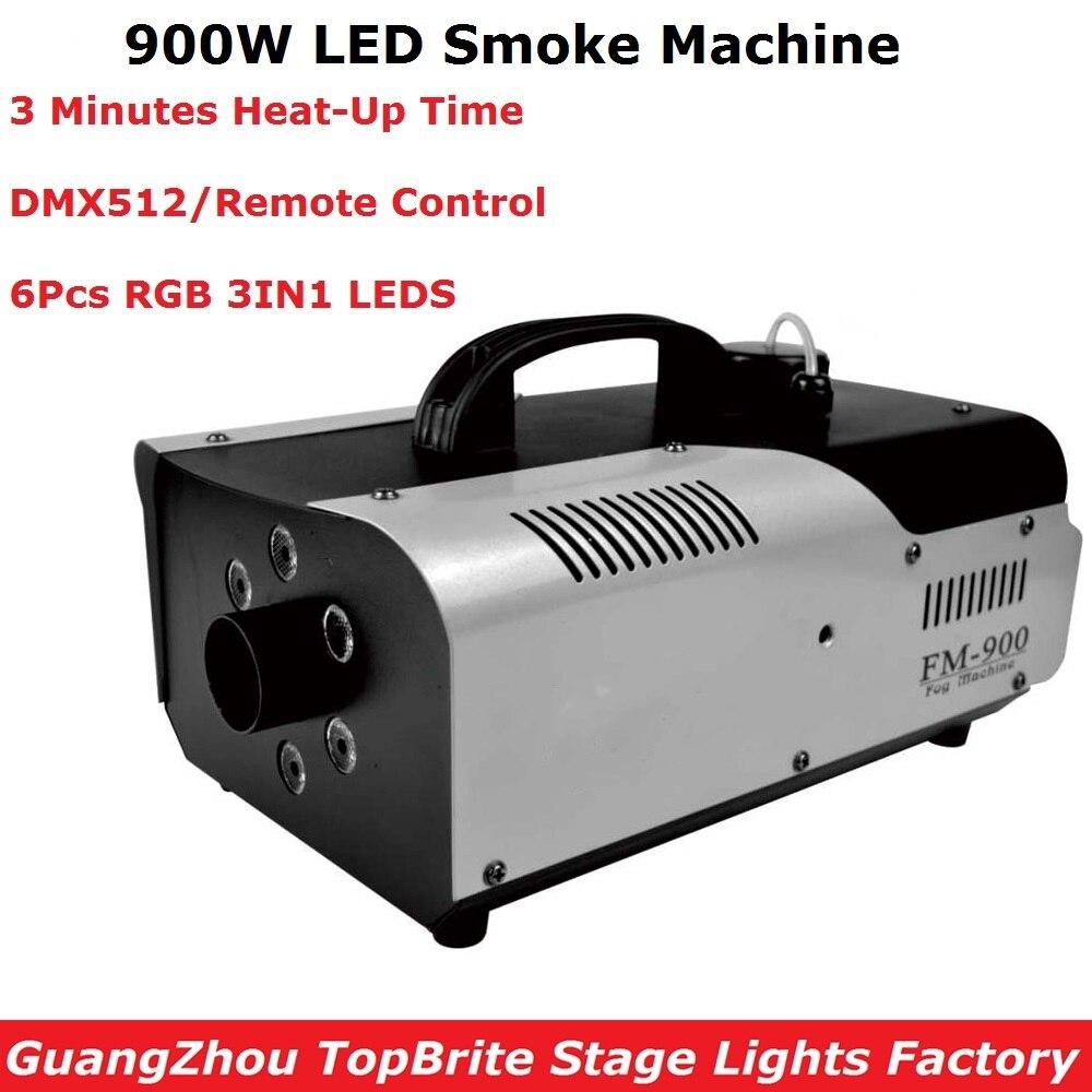 DMX/Télécommande LED 900W Machine À Brouillard DMX Machine À Fumée de Scène Avec 6 pièces RVB 3IN1 LED S LED Éjecteur de Fumée LED DJ Machine