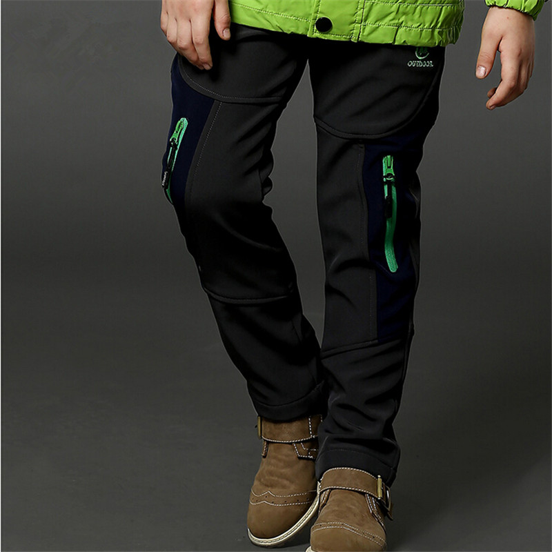 boys child plus velvet thickening sports trousers children's clothing teenage child autumn and winter trousers child outdoor boy child casual pants autumn and winter child trousers plus velvet 2017 children s clothing autumn thickening big boy trousers