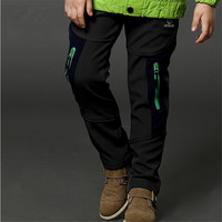 boys child plus velvet thickening sports trousers children's clothing teenage child autumn and winter trousers child outdoor