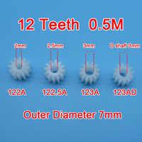 Ordine del campione 10 pz 12 Denti Gear 0.5 m 122A 123A 122.5A 123AD Giocattolo Modello di Parti di Aeromobili Ingranaggi