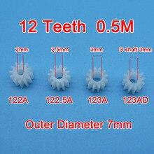 Заказ образца 10 шт 12 зубчатых передач 0,5 м 122A 123A 122.5A 123AD Игрушечная модель самолета части шестерни s