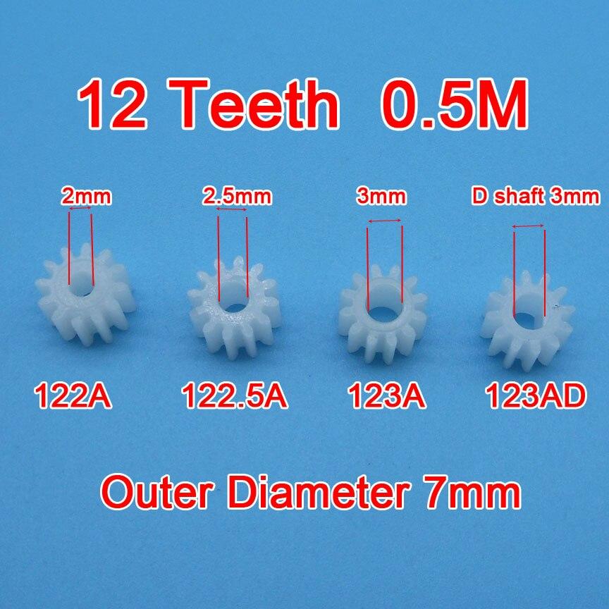 100% Wahr Probe Auftrag 10 Stücke 12 Zähne Getriebe 0,5 Mt 122a 123a 122.5a 123ad Spielzeug Modell Flugzeug Teile Getriebe