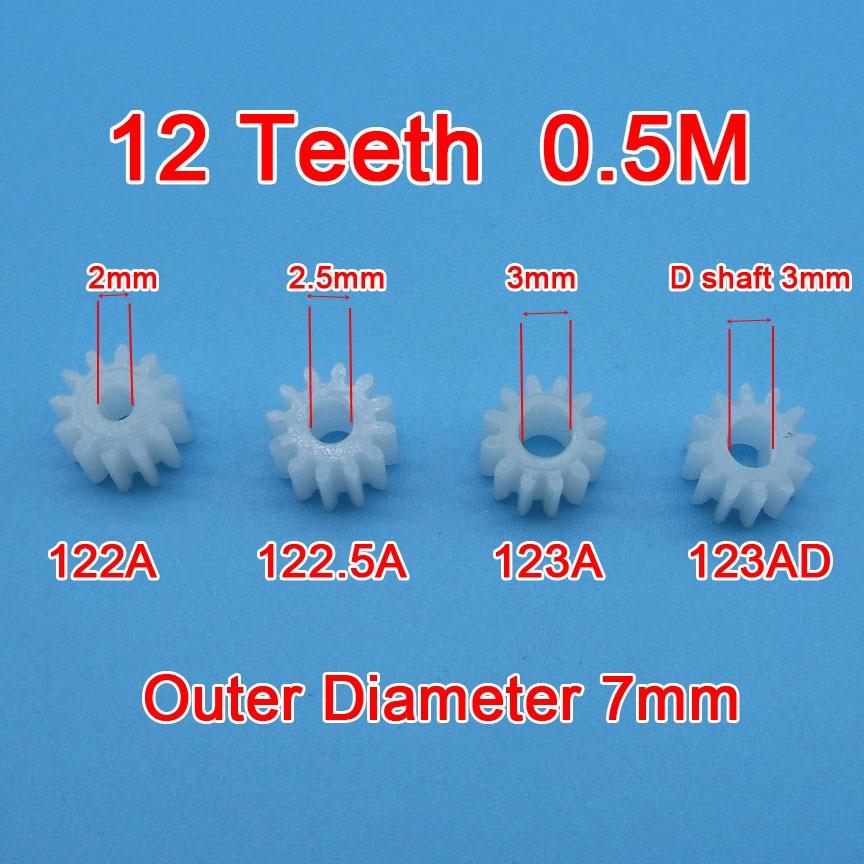 Заказ образца 10 шт. 12 зубьев шестерни 0,5 м 122A 123A 122.5A 123AD Фотоэлементы шестерни s