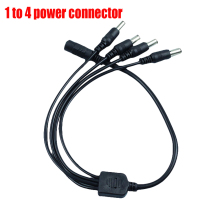 1pcs Portable 5.5x2.1mm DC Power Cable 1 Female to 4 Male Pl