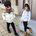 2016 de inverno das crianças novas meninas E meninos de roupas grossas de inverno casaco curto parágrafo casaco jaqueta de algodão acolchoado 4-12 anos