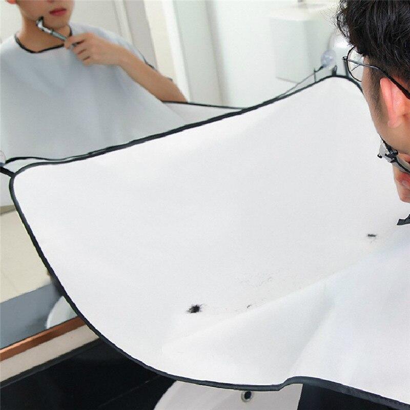 125x75 cm Nieuwe Schort Gezichtshaar Trimmings Catcher Cape Sink Thuis Salon Tool 1 PCS Scheren Doek Met 2 haken 2019 Nieuwe Collectie