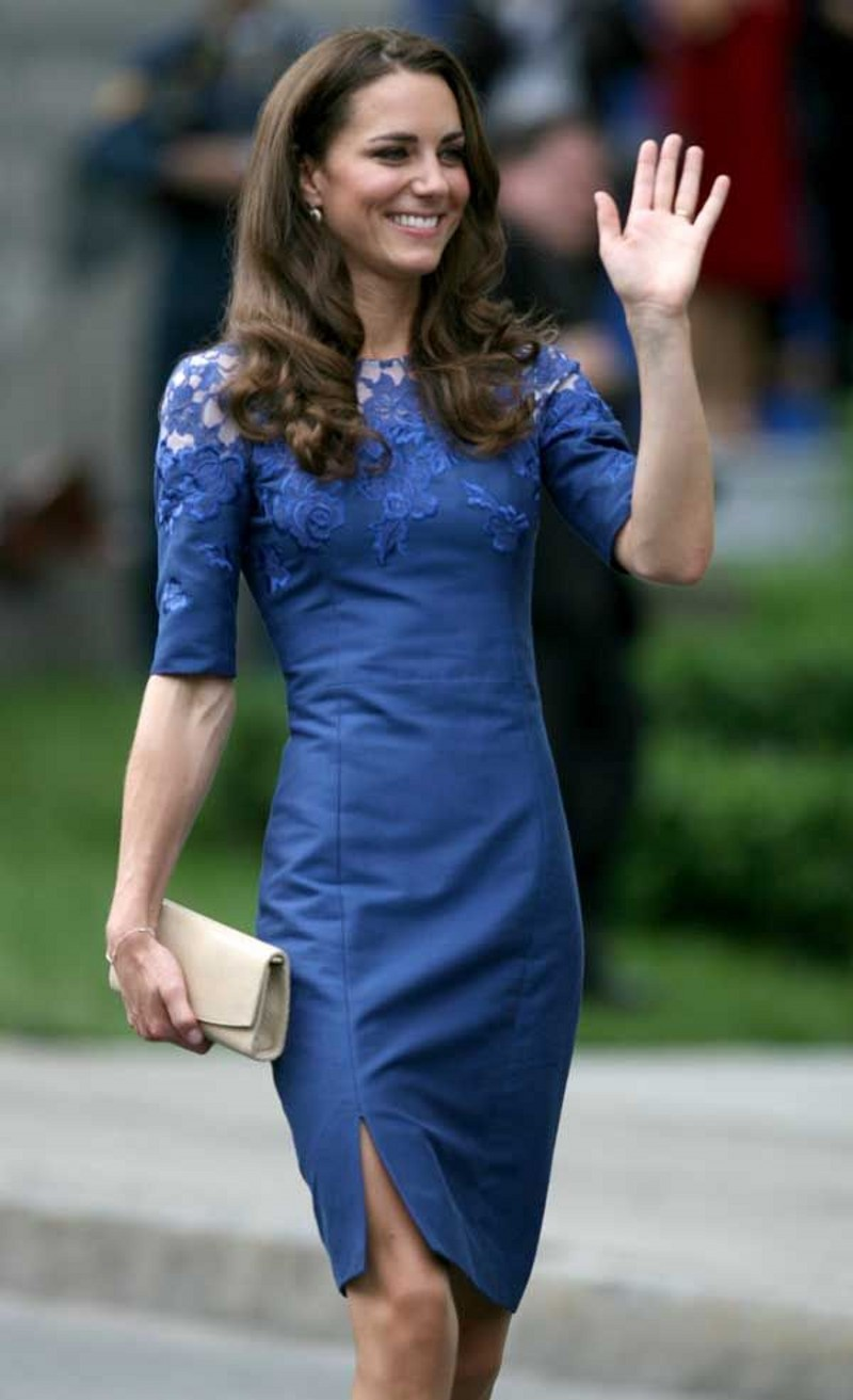 Beautiful Kate Middleton Prom Dress with Half Sleeve vestidos de ...
