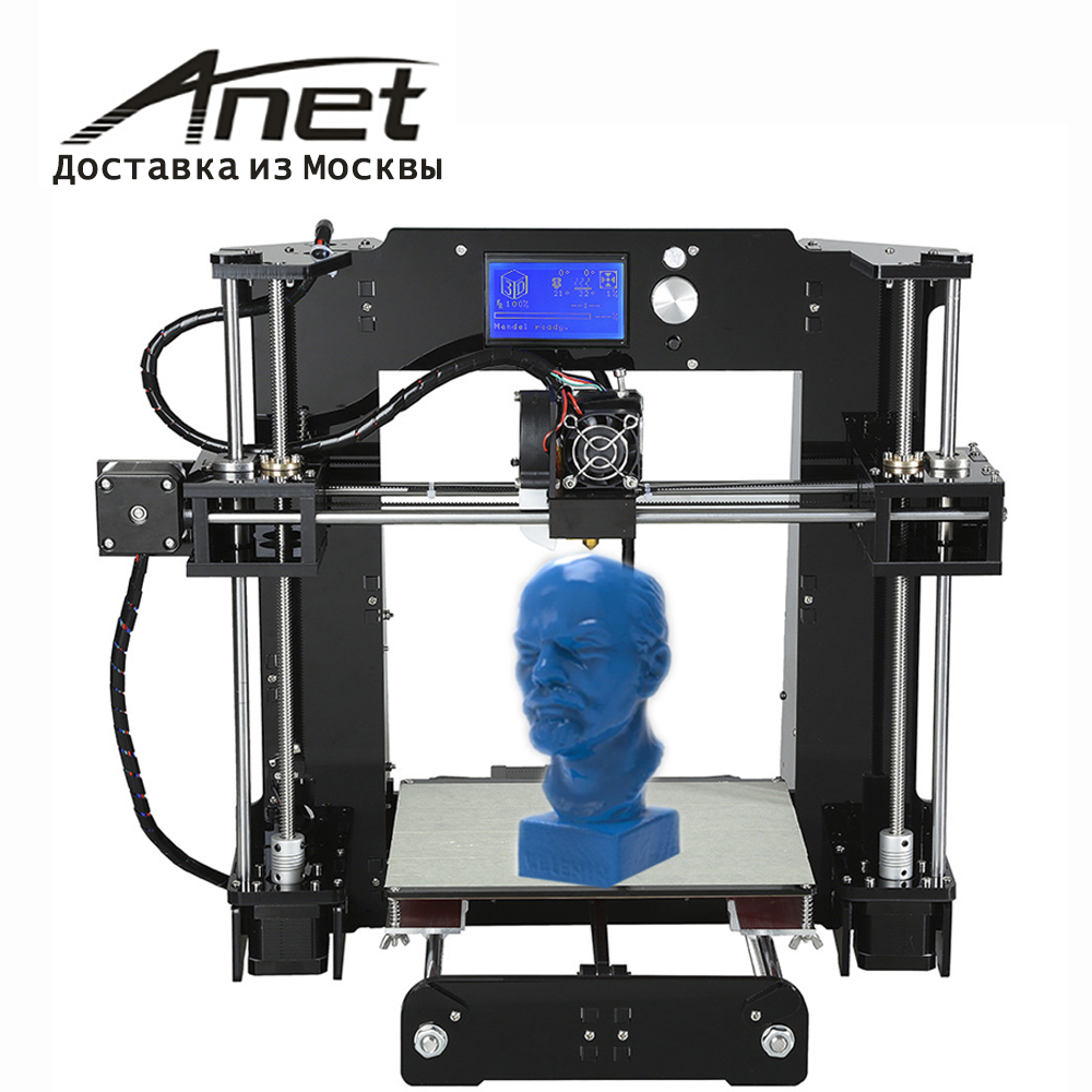 original Anet A6 3D printer kit /high precision quality big hot bed i3 reprap/better screen/express shipping from Russian/ original anycubic 3d pinter kit kossel pulley heat power big size 3d printing metal printer fast shipping from moscow