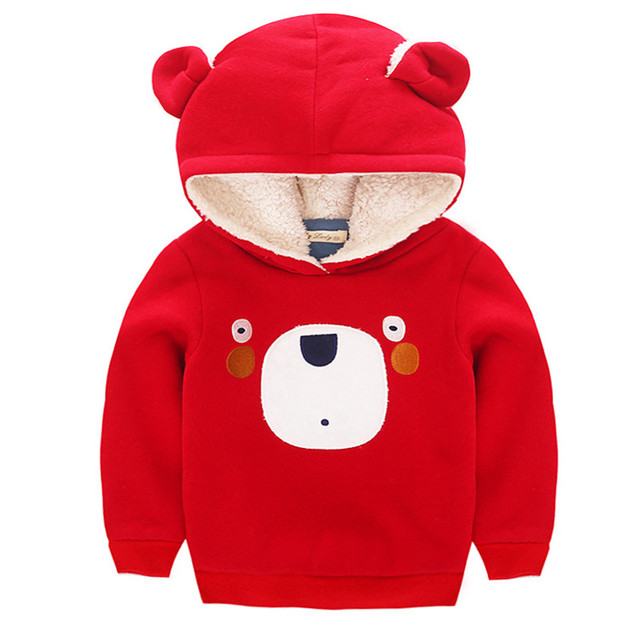Christmas t-shirt kids winter kids clothes suits cartoon bear christmas long sleeve kids boys Girls Plus velvet thickening t-shi
