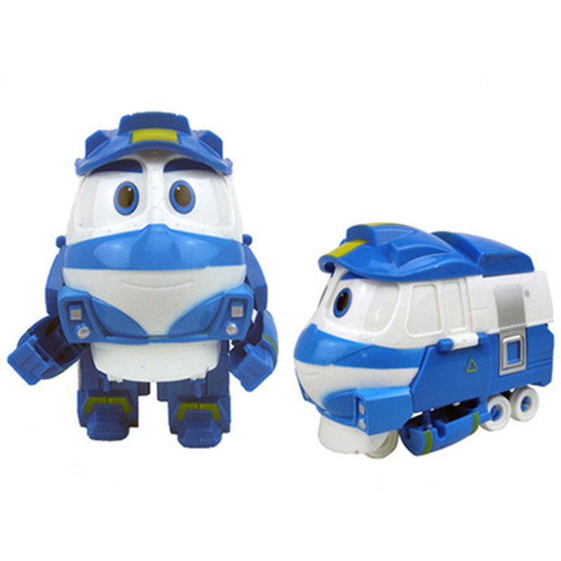 NEW Hot 13cm Robot Trains Transformation Kay Alf Dynamic Train Family Deformation Train Car Action Figure Toys Doll For