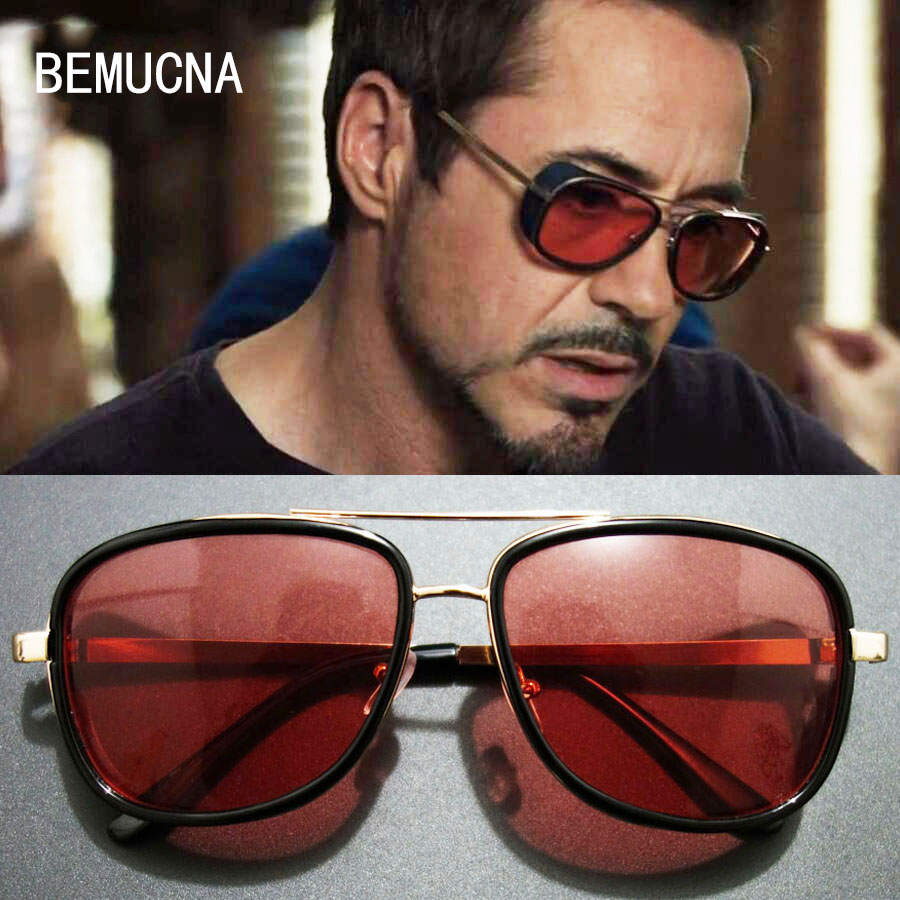 BEMUCNA 2018 THE NEW Iron Man TONY Gafas de sol rígidas Hombres - Accesorios para la ropa