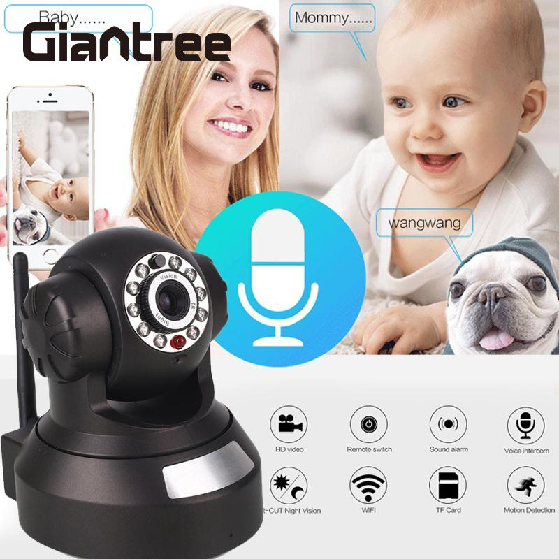 giantree HD 960P Wireless Baby monitor WIFI IP Camera Infrared night vision CCTV Camera Motion Detection Voice Intercom Home giantree 960p hd wifi ip camera infrared night vision baby monitor home security monitor camera support tf card white eu us