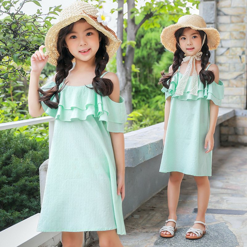 big girl dress children 2018 summer baby girls princess dress kids green cute teenagers little girls dresses holiday clothing 2016 summer toddler girl clothing cotton white cartoon baby gilrs casual dress kids cute a dresses for teenagers children