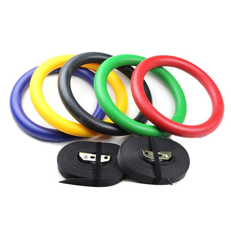 Anneaux de gymnastique ABS 3.8 CM anneaux de gymnastique avec longues boucles réglables sangles d'entraînement pour la gymnastique à domicile et la remise en forme croisée