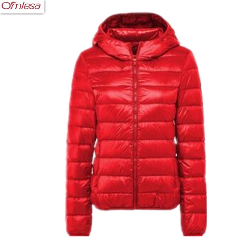 OMLESA 2017 New 95% White Duck Down Jacket Women Autumn Winter Warm Coat Lady Ultralight Duck Down Jacket ZA402
