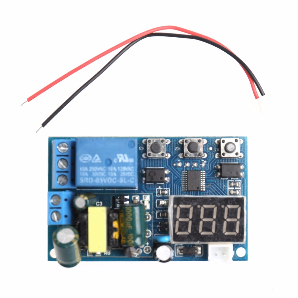 цена на AC 110V 220V 5A LED Display Trigger Cycle Delay Time Relay PLC Timer Switch Module