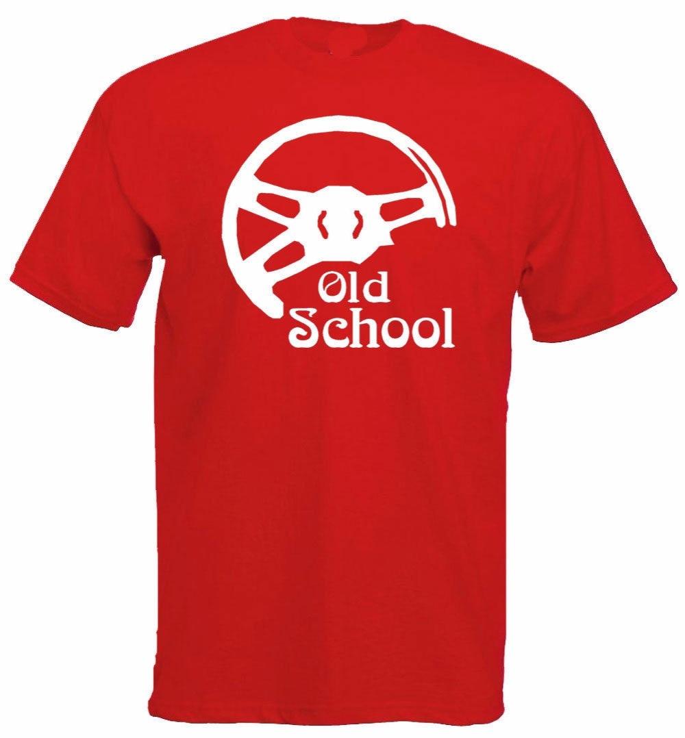 2018 бренд Для мужчин Костюмы хлопковые футболки с короткими рукавами Для мужчин драйвер Lenkrad старой школы Авто футболка
