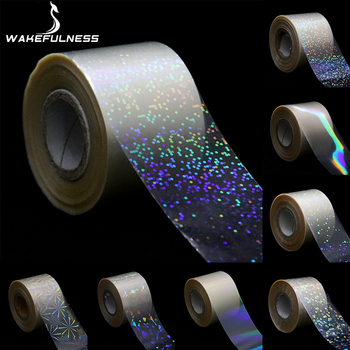 1Roll Holographic Starry Sky Nail Foils Transparent Laser Point Nail Art Transfer Stickers Decals Manicure Decorations flame holographic decals nail art transfer sticker paper nail art decorations laser holo holographic gold 3d nail stickers