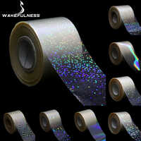 1Roll Holographic Starry Sky Nail Foils Transparent Laser Point Nail Art Transfer Stickers Decals Manicure Decorations