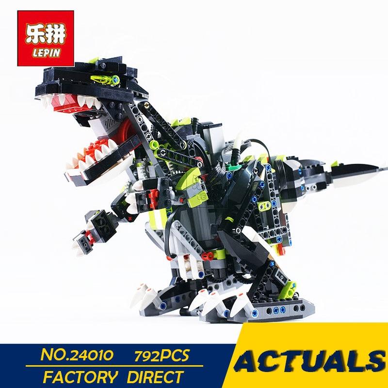 LEPIN 24010 792 pcs Science technologie blocs de construction super 3 en 1 dinosaure télécommande fonction sonore éclairer jouets pour kid