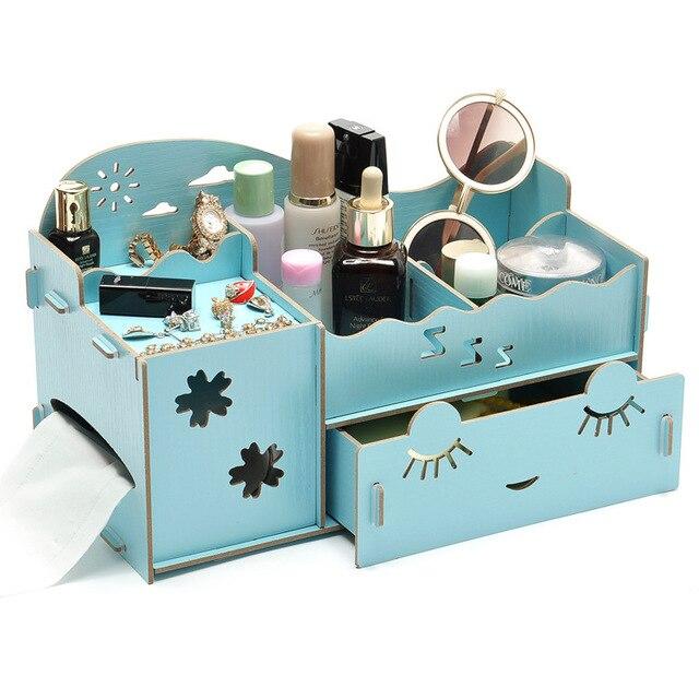Aliexpress.com : Buy Pretty DIY Wood Cosmetic Organizer ...