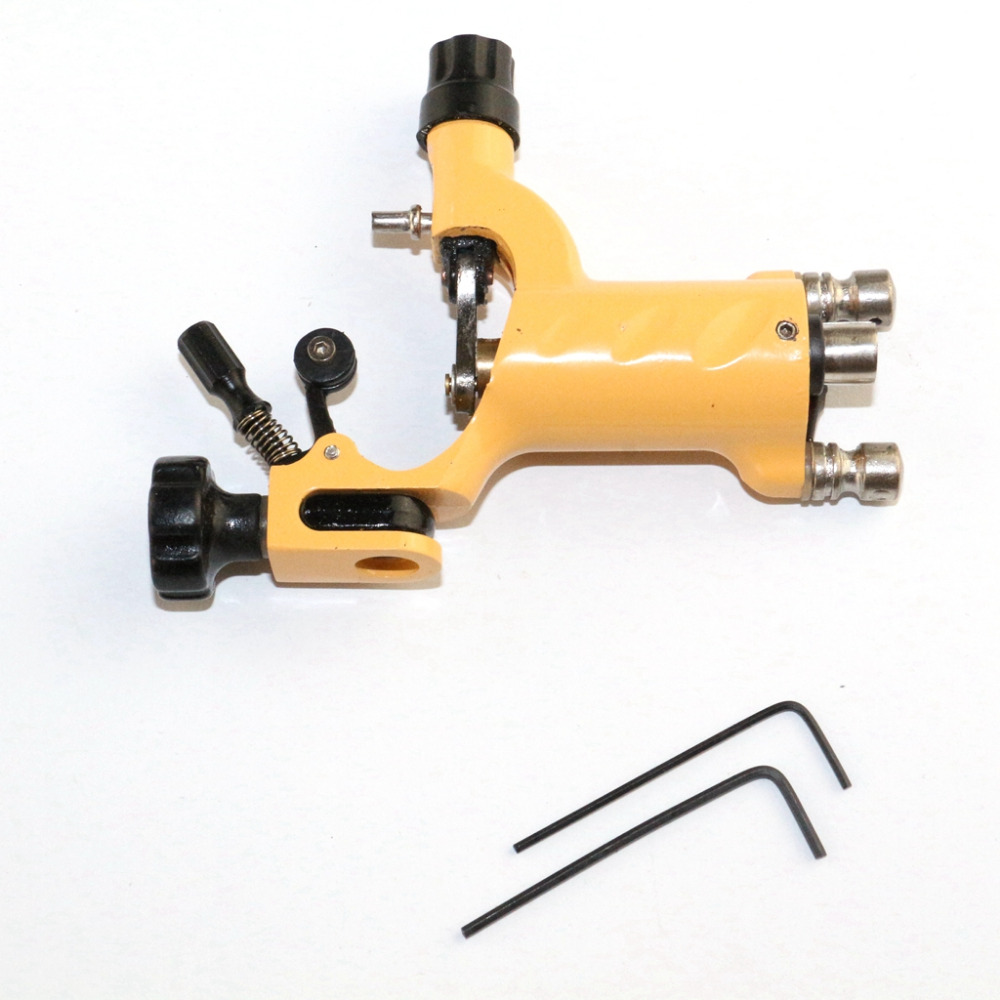 Hot Sale Yellow Dragonfly Rotary Tattoo Machine Gun Professional Dragon Assorted Tattoo Gun Liner And Shader Supply wholesale and retail antique brass hot cold vessel sink mixer tap bathroom basin faucet single handle hole