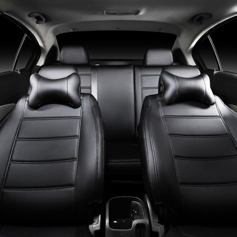 Cubierta de asiento de cuero para Toyota Volkswagen Suzuki Kia Mazda - Accesorios de interior de coche - foto 2