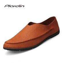 Plardin/2017 Four Seasons Мода Плюс Размеры человек Вышивание удобные дышащие платье в сдержанном стиле из микрофибры парусник обувь для мужчин