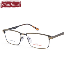 Chashma Gentlemen Metal Eyeglasses Frame Brand Design Lenses Frames Male Spectacles Myopia Optical Rim