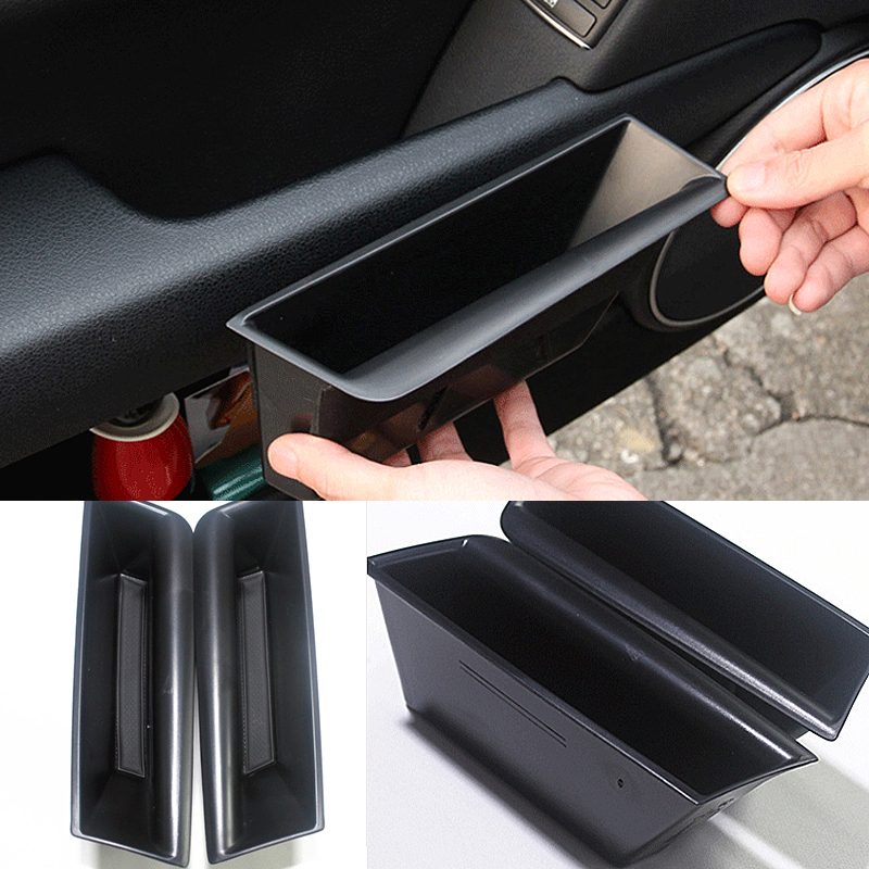 2 pieces Front Door Handle Storage Box For Mercedes Benz C class W204 2008 2014 Container Holder Tray Car Organizer Accessories|Stowing Tidying| |  - title=
