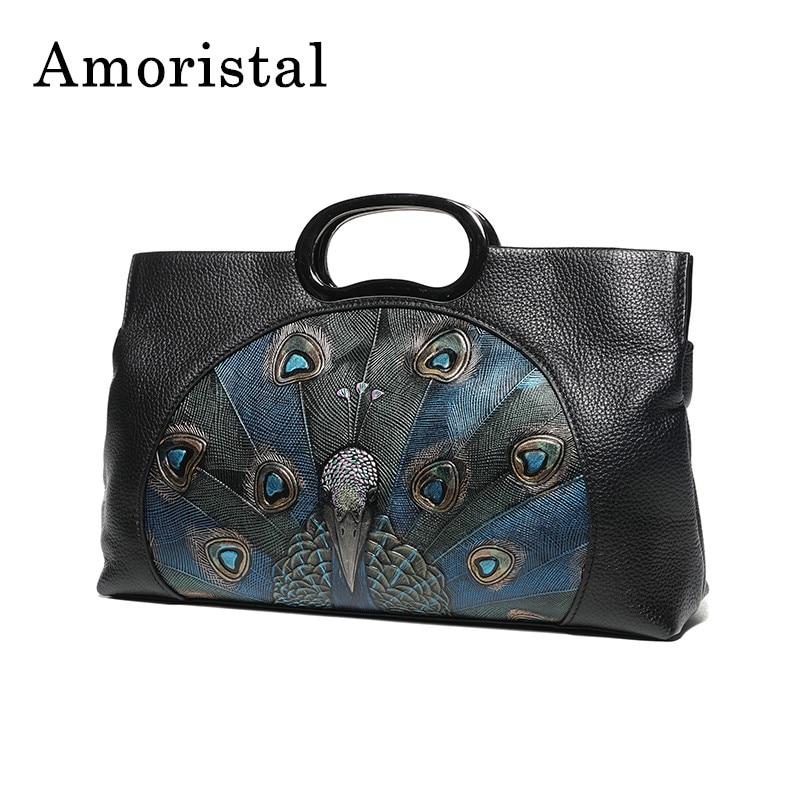 Women's Hand Bags National Wind High Quality Genuine Leather Messenger Bag Leather Handbag Shoulder Bag Casual Clutch Bags B242 цена и фото