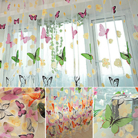 New Large Butterfly Screening European Style Jacquard Design Home Decoration Modern Curtain Tulle Fabrics Cortinas For